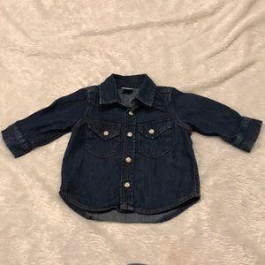 Baby GAP denim button up shirt